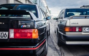 BMW E30 m3 срещу Mercedes 190e Cosworth