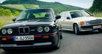 BMW E30 m3 срещу Mercedes 190e Cosworth